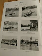 1899 THE SKETCH MAGAZINE HENLEY ROWING BOAT CRICKET