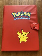 More details for vintage 1999 red pikachu pokemon card folder / binder beautiful condition