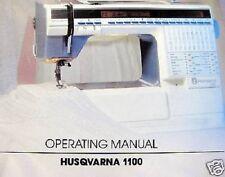 Viking Husqvarna #1100 Operating Sewing Manual Guide CD