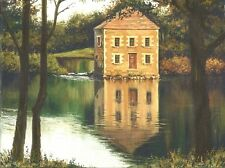 1.5x2 DOLLHOUSE MINIATURE PRINT OF PAINTING RYTA 1:12 SCALE LANDSCAPE OIL ART