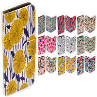 For Apple iPhone Series Case - Floral Pattern Print Wallet Phone Case Cover