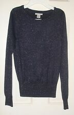 H&M Women's glitter  sweater - size S - New with tags - Navy blue!