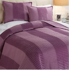 Concierge Collection one-piece Velvet Stripe Coverlet Set