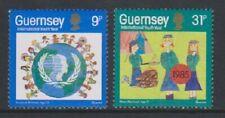Guernesey - 1985, International Jeunes An Ensemble - MNH - Sg 338/9