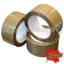 72 x Rotoli di Kd Heavy Duty PVC Vinile Marrone imballaggio nastro WIRQUIN 48mm x 66m xx-strong