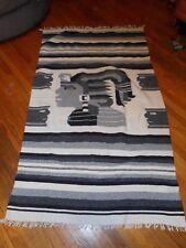 Vintage Wool Blanket Black, White and Grays
