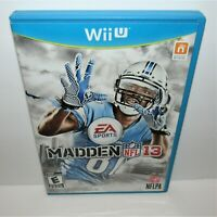 Madden NFL 13 (Nintendo Wii U, 2012) Complete Cracked Case