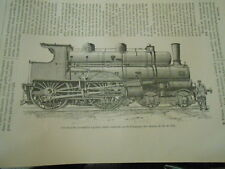 Une nouvelle Locomotive a grande vitesse Gravure Old Print 1892