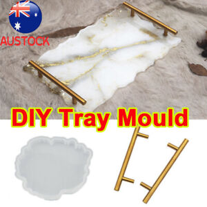 Large Safe Silicone Tray Artist Mold Irregular Coaster Resin Art DIY Tray Mould,