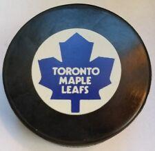 NHL TORONTO MAPLE LEAFS 85-92' INGLASCO NON-APPROVED GAME PUCK IG1 VINTAGE SLUG