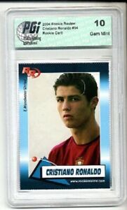 Cristiano Ronaldo 2004 Rookie Review card PGI 10 Portugal Real Madrid