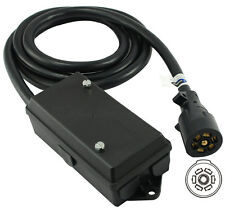 Universal Molded Trailer Light Plug Junction Box  7 Way RV 7.5' Cord 10110-096BX
