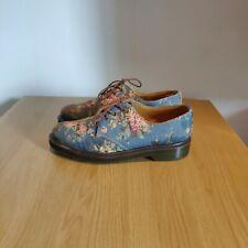 Dr Martens 1461 Castel Victorian Flowers Floral Blue Shoes Size UK 5 EU 38