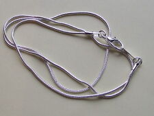 UK Jewellery Wholesale 10 Pieces 16 inch Smooth Silver 1 mm Snake Necklace Chain