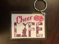 Cheerleading Keychain with Cheer Life