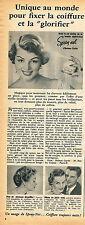 PUBLICITE ADVERTISING 114  1954  HELEN CURTIS   laque SPRAY-NET
