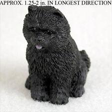 Chow Chow Mini Resin Hand Painted Dog Figurine Black