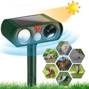 Solar Tiervertreiber Ultraschall Abwehr Marder Katzen Hunde Abwehr Schreck Grün