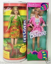 LOT OF 2 BARBIES LIFESAVERS BARBIE RUSSELL STOVER CANDIES BARBIE NRFB