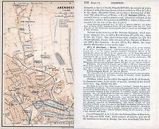 Aberdeen 1901 orig. city map + guide (2 p.) Union St. Footdee Epidemic Hospital