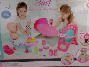 Deluxe Puppen Spielsets - verschiedene Puppen 35 cm - viel Zubehör
