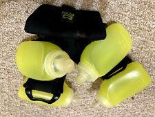 Amphipod Hydration Belt 4 Bottle Zip Pouch Black Green Running Hiking