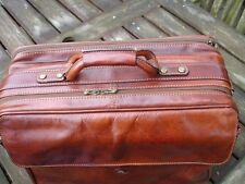 THE BRIDGE LEATHER CO IN FLIGHT BAG / CARRY ON BAG /  WORK BAG / BRIEFCASE /