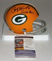 PACKERS Paul Hornung signed mini helmet w/ Golden Boy JSA AUTO Autographed RARE