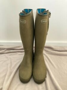 Le chameau vierzonord wellies mens size 10 / 44 small crack in gussets