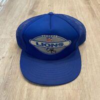 Vintage Drew Pearson Detroit Lions Hat RARE Snapback NFL Vintage 90s Blue Cap