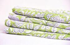 Hand Block Sanganeri Print 10 yard Indian Cotton Fabric voile Natural Handmade