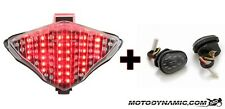 04-06 Yamaha R1 SEQUENTIAL LED CLEAR Tail Light + Flush Mount Turn Signals Combo
