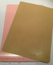 NEW Spellbinders Grand Calibur TAN RUBBER EMBOSSING MAT GC-006 & PINK B PLATE