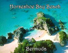 Bermuda - HORSESHOE BAY BEACH - Travel Souvenir Flexible Fridge Magnet