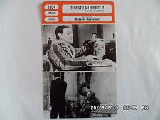 CARTE FICHE CINEMA 1954 OU EST LA LIBERTE ? Toto Vera Molnar Nyta Dover