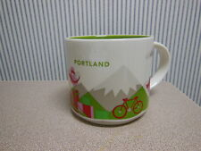 PAIR of Starbucks 2013 PORTLAND Oregon Coffee Mugs You Are Here Collection NEW