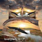 3D Flying Eagle Queen Size Bed Quilt/Doona/Duvet Cover Set Polyester 4PCS Linen