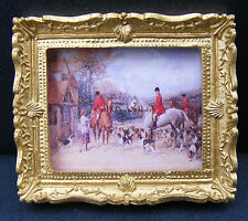 1:12 Échelle Image (Imprimé) de une Chasse Scène Tumdee Maison de Poupées Mini 1