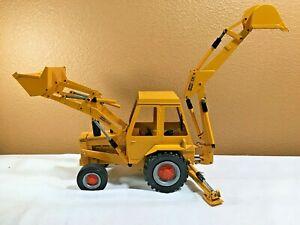 Construction King Gescha Case 580B Backhoe Loader Toy - 1:16 Scale - W. Germany