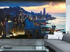Hong Kong City  Wall Mural Photo Wallpaper GIANT WALL DECOR Free Glue