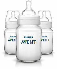 Philips Avent 3 x 260ml Classic Plus 9 Oz Baby Bottle