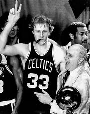 Boston Celtics LARRY BIRD & RED AUERBACH Glossy 8x10 Photo NBA Champs Poster