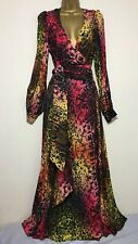 BNWT Coast Rainbow Wrap Maxi Occasion Dress Size 10
