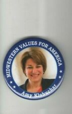 2020 pin AMY KLOBUCHAR pinback President Campaign MIDWESTERN VALUES for America