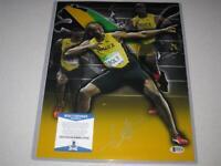 Usain Bolt Jamaica Olympic Gold Signed Autograph 11x14 PHOTO Beckett BAS COA!
