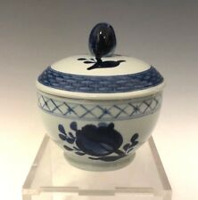 Royal Copenhagen Tranquebar Blue Rim Mini Sugar Bowl and Lid 11/1188