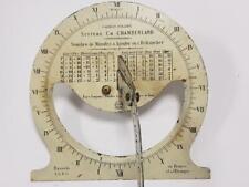 objeto INSOLITO Antiguo RELOJ de SOL d 1892 CHAMBERLAND ancienne candran solaire