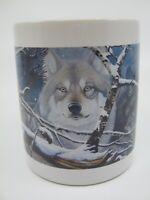 Eyes In the Mist Wolf Coffee Mug National Wildlife Federation Daniel Pierce