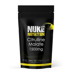 60 x L Citrulline Malate Capsules Pre Workout Men Booster Blood Pressure Pills