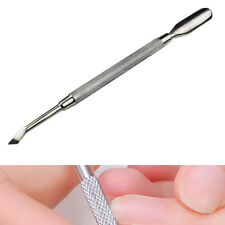Cuticle Nail Pusher Spoon Remover Acier inoxydable Manucure Pédicure Care Outil
